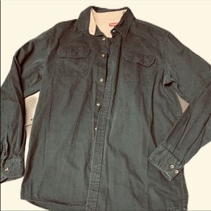 Wrangler Tall Long Sleeve Button Up (size L tall)